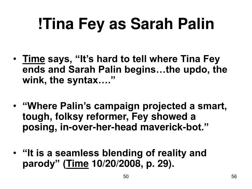 !Tina Fey as Sarah Palin