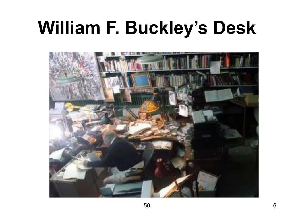 William F. Buckley's Desk