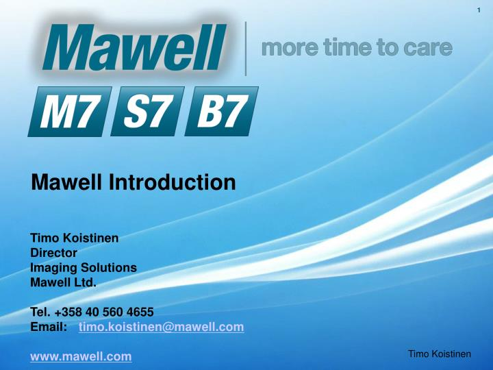 mawell introduction n.