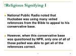religious signifying i