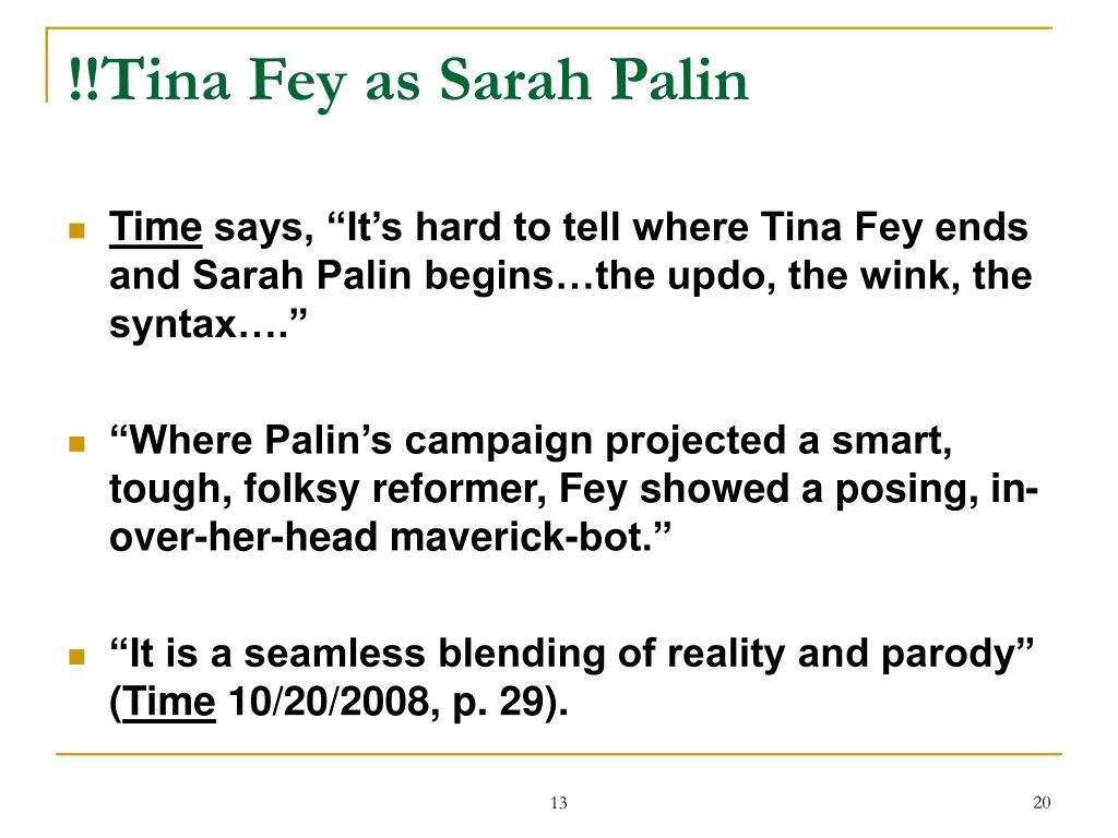 !!Tina Fey as Sarah Palin