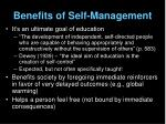 benefits of self management6