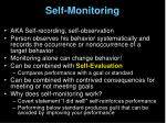 self monitoring