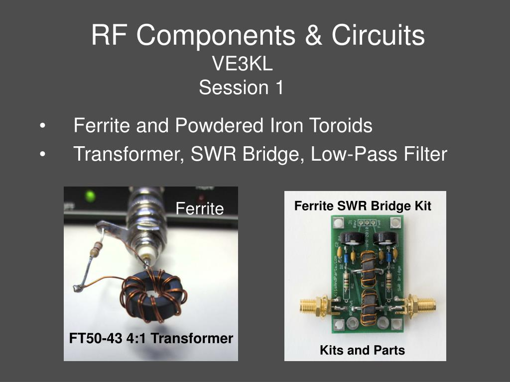 Ppt Rf Components Circuits Ve3kl Session 1 Powerpoint Circuit Board Design Templates N