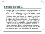 sample clause 2