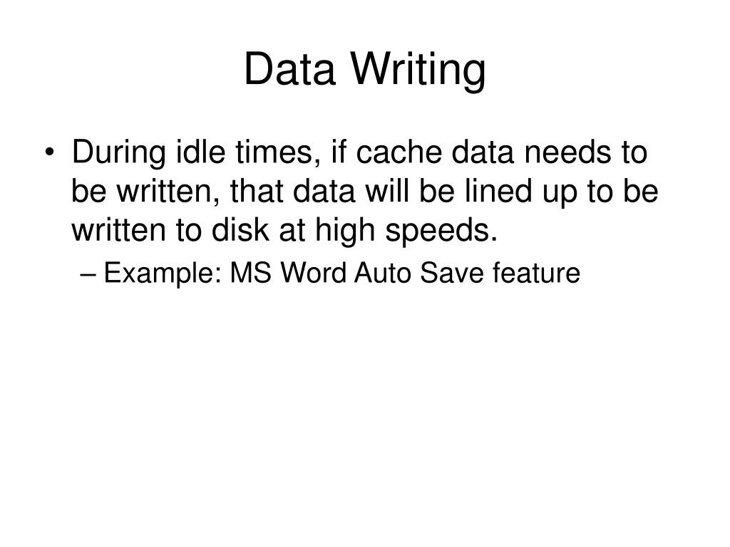 Data Writing