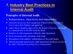 7 industry best practices in internal audit