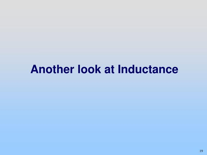 Another look at Inductance