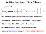 addition reactions hbr to alkenes