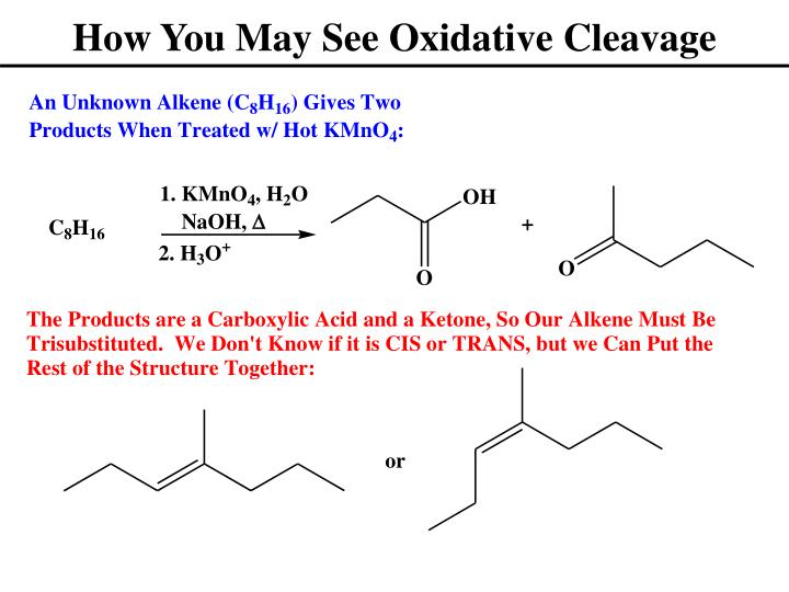 How You May See Oxidative Cleavage