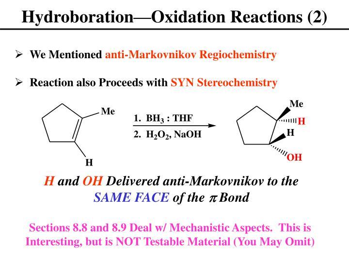 Hydroboration—Oxidation Reactions (2)