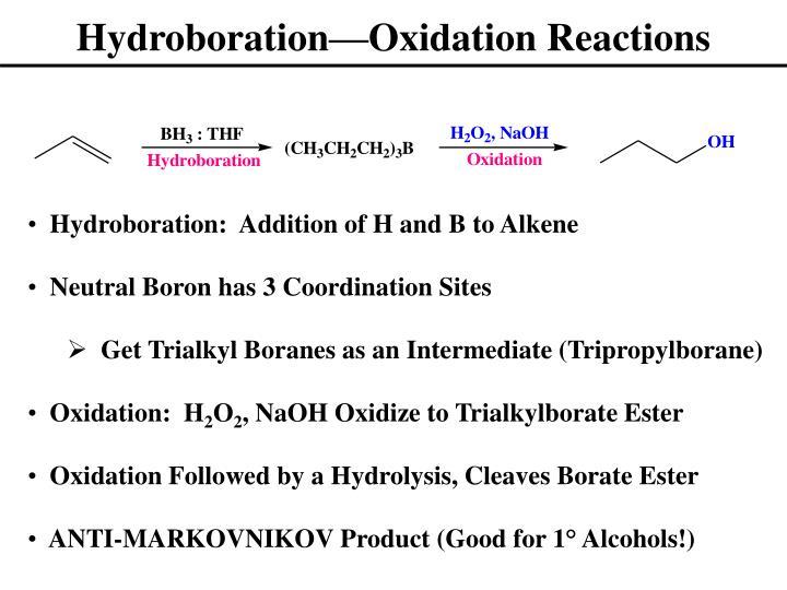 Hydroboration—Oxidation Reactions