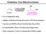 oxidation syn dihydroxylation