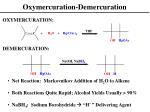 oxymercuration demercuration