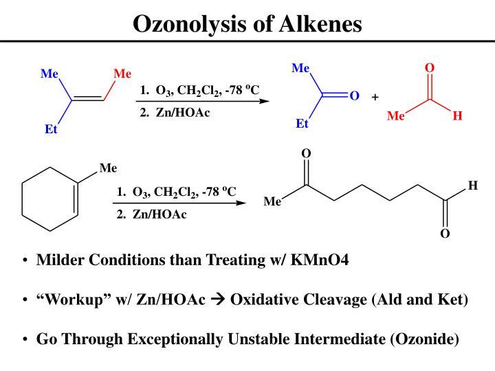 Ozonolysis of Alkenes