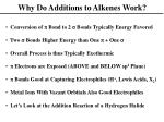 why do additions to alkenes work