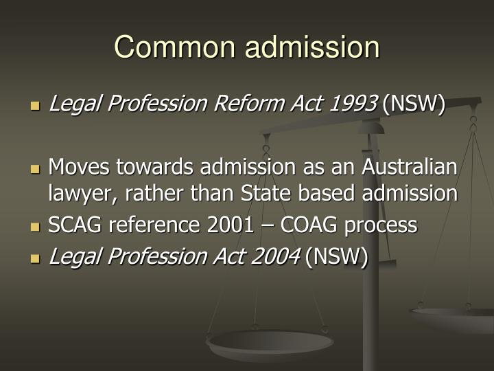 Common admission