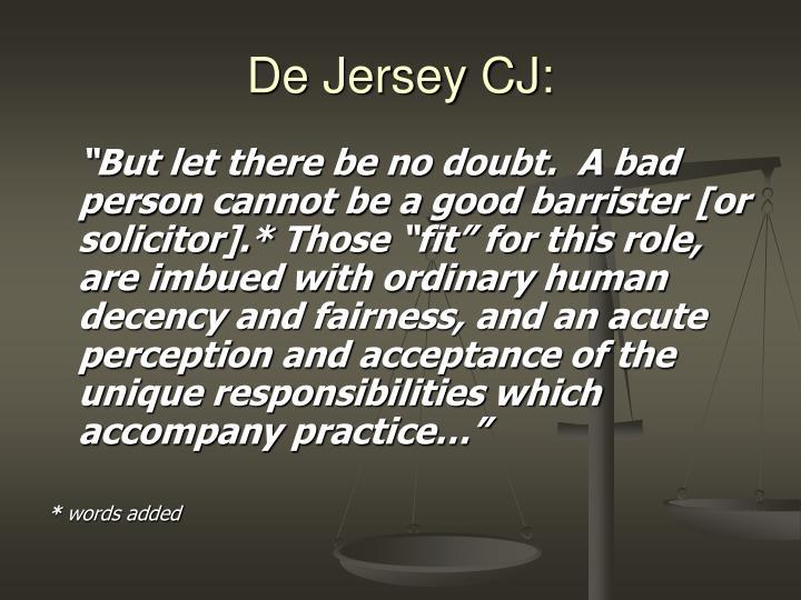 De Jersey CJ: