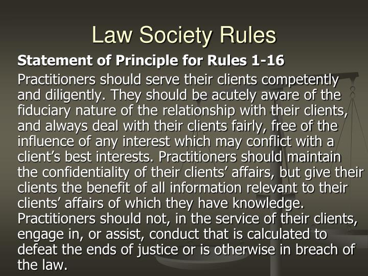 Law Society Rules