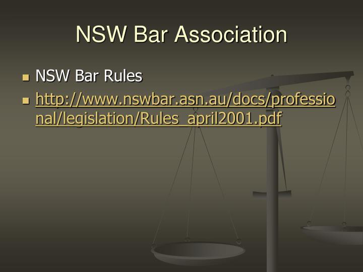 NSW Bar Association