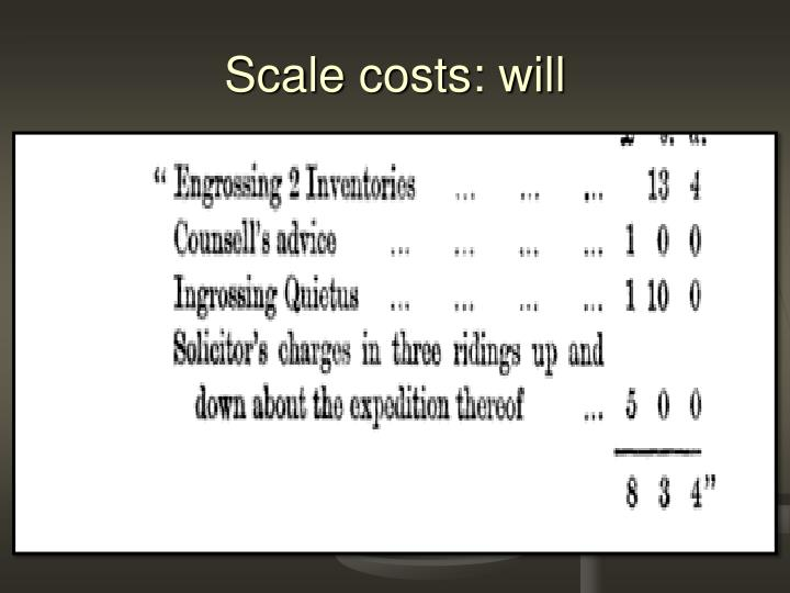 Scale costs: will