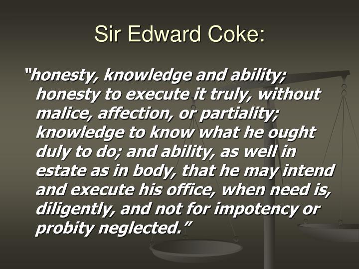 Sir Edward Coke: