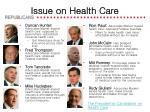 issue on health care