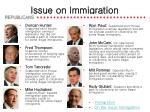 issue on immigration