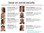 issue on social security
