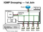 igmp snooping 1st join