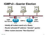 igmpv2 querier election