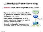 l2 multicast frame switching