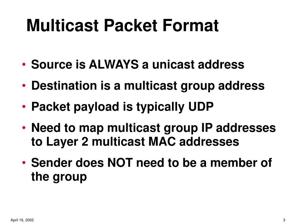 Multicast Packet Format