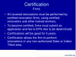 certification firms