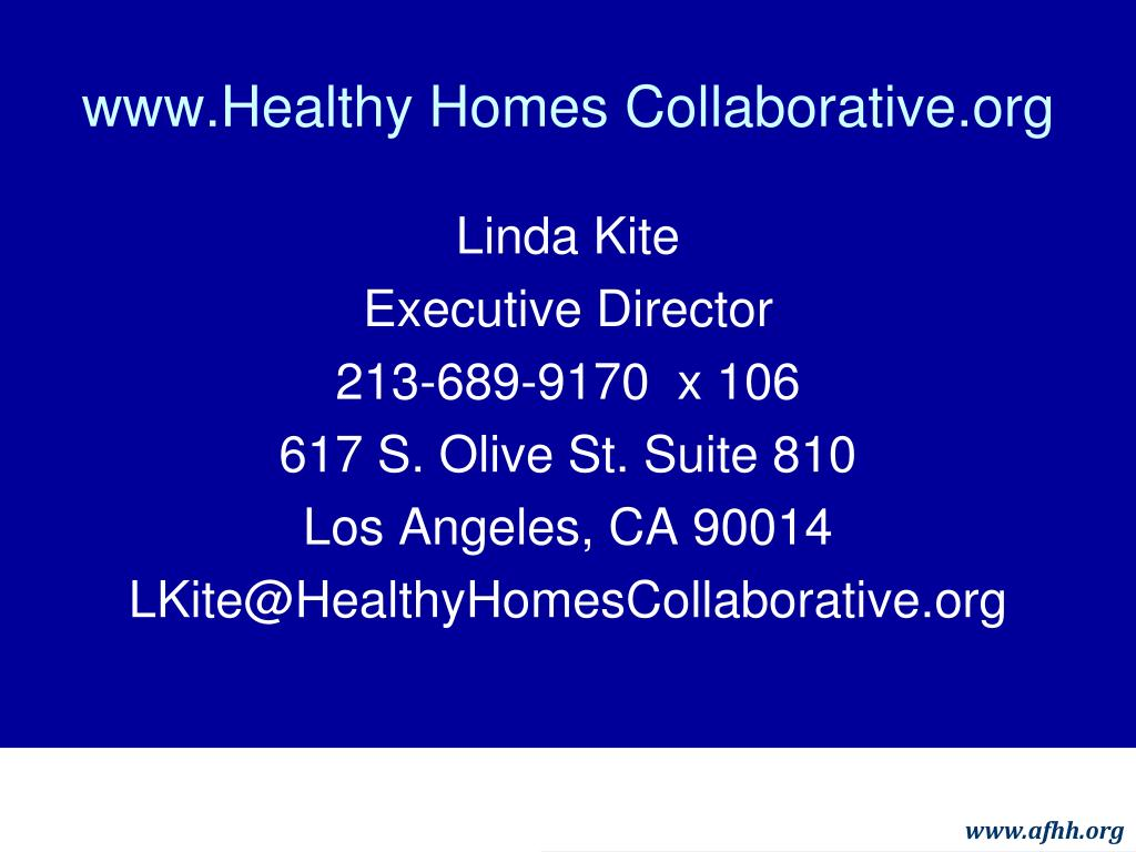 www.Healthy Homes Collaborative.org