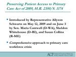 preserving patient access to primary care act of 2009 h r 2350 s 1174