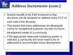 address increments cont