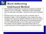 rural addressing grid based method