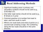 rural addressing methods11