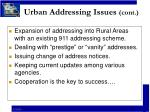 urban addressing issues cont32
