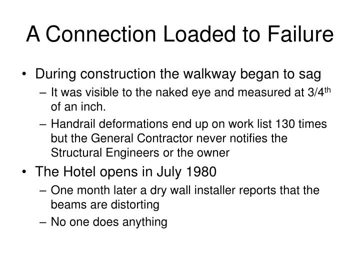 A Connection Loaded to Failure