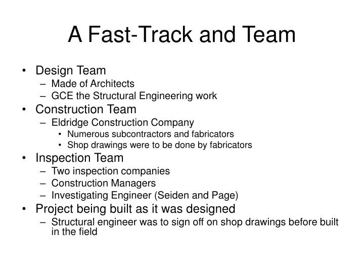 A fast track and team