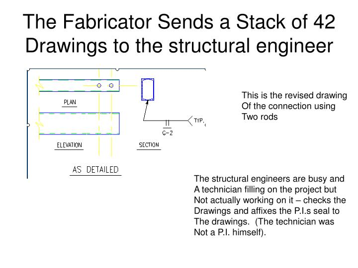 The Fabricator Sends a Stack of 42 Drawings to the structural engineer