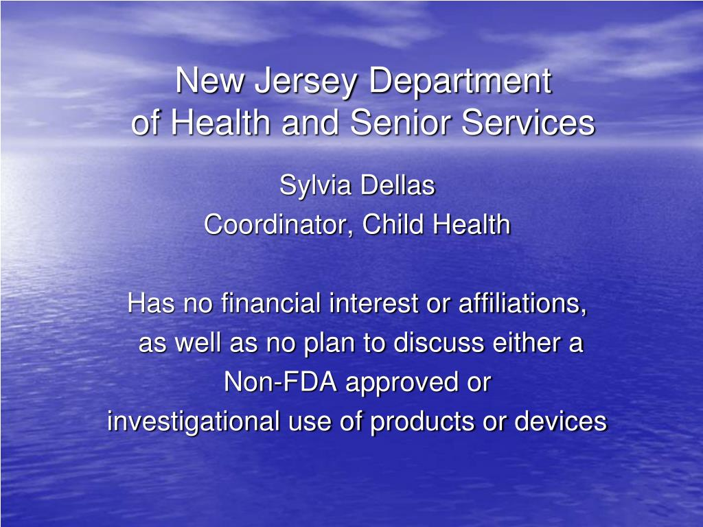new jersey department of health and senior services l.