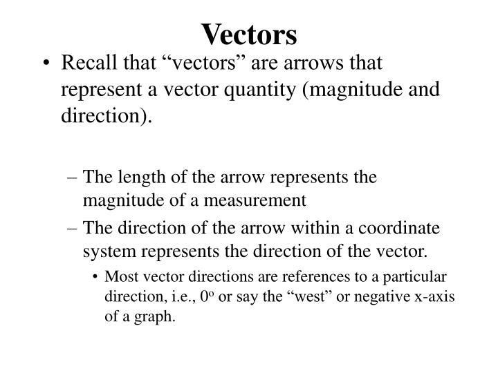 vectors n.