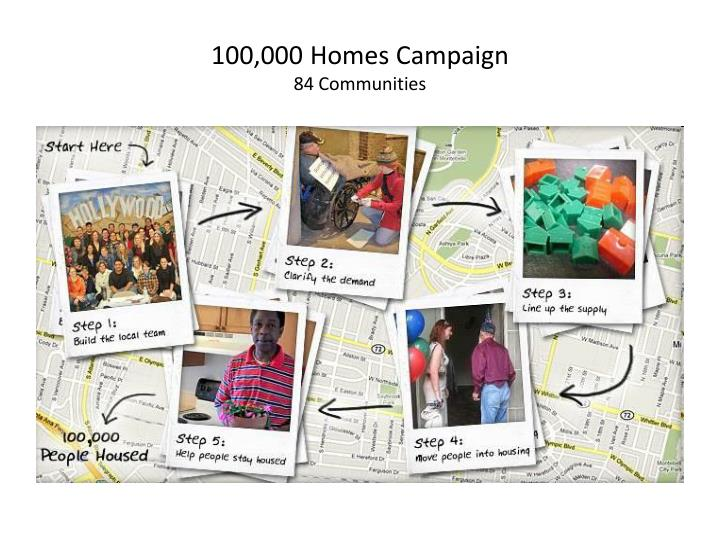 100 000 homes campaign 84 communities