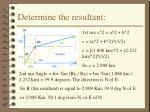 determine the resultant