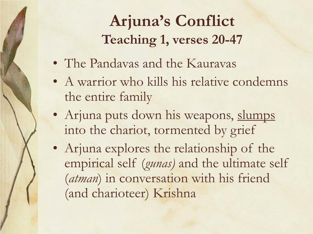 Arjuna's Conflict