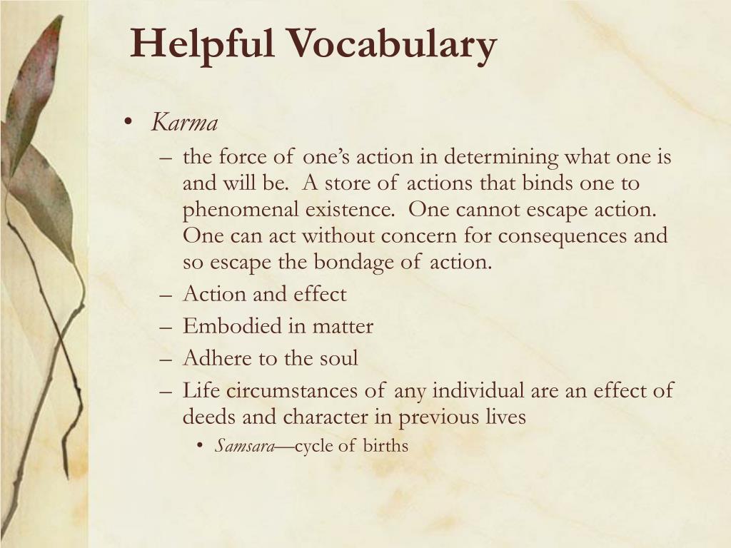 Helpful Vocabulary