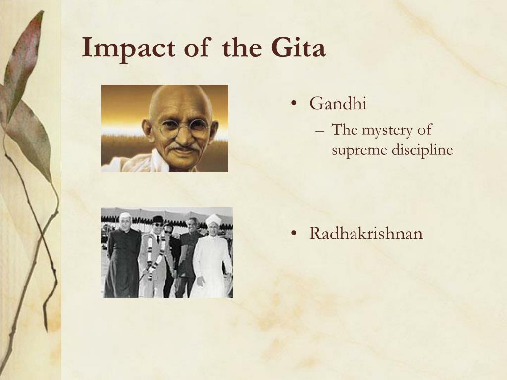 Impact of the Gita